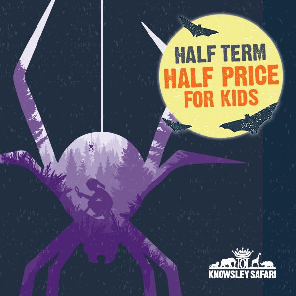 Half term half price for kids at Knowsley Safari